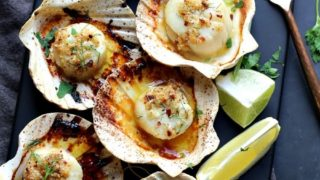 Baked Sea Scallops in Shells