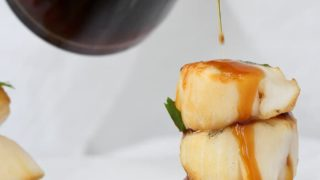 Grilled Sea Scallops with Bourbon Sauce