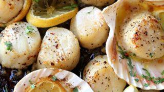 Sheet Pan Garlic Butter Scallops