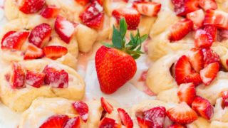 Strawberry Lemon Crescent Ring