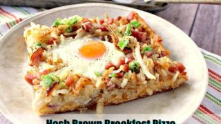 Sunny Side Up Hash Brown Breakfast Pizza