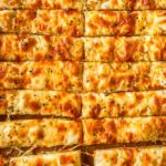 Pizza Dough Cheese Sticks closeup
