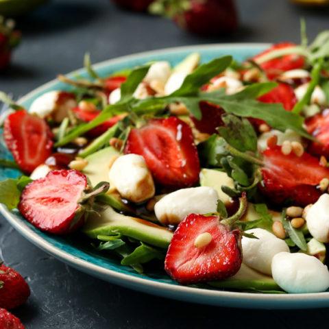 Arugula Salad with Avocado and Strawberries