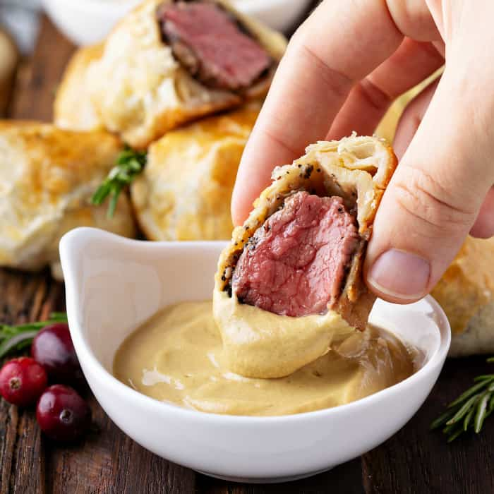 Bite size Beef Wellingtons