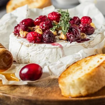 Baked Camembert with Cranberry & Walnuts