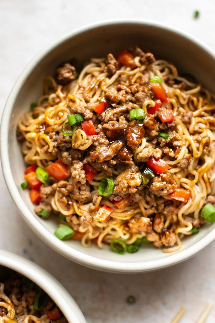 Beef Ramen Noodles (Stir Fry)