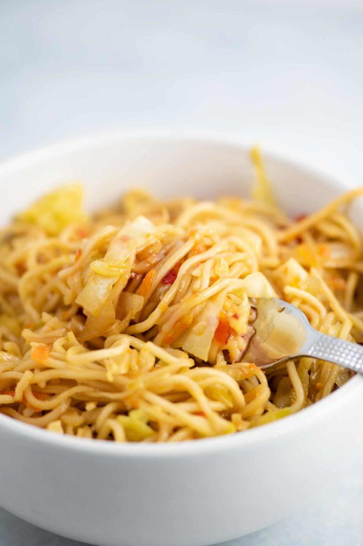 Ramen Noodle Cabbage Stir Fry Recipe