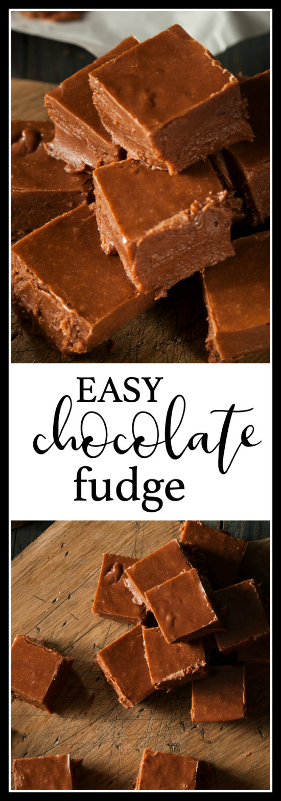 easy chocolate fudge pin for pinterest