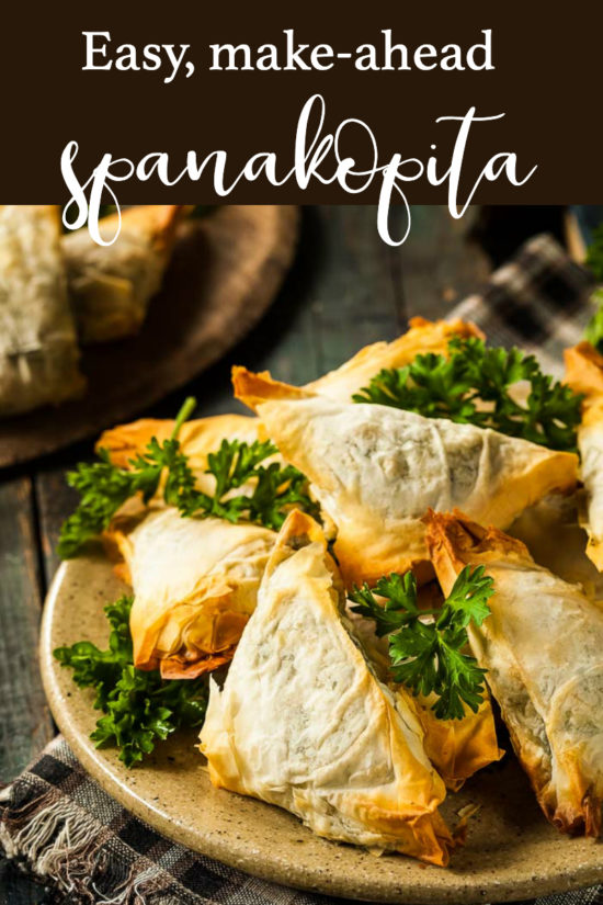 spanakopita PIN for pinterest