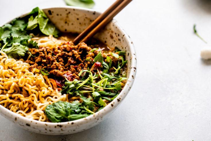 Tan Tan Noodles (Tantanmen Ramen or Dan Dan Noodles)