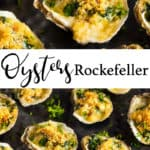 oysters rockefeller PIN for pinterest