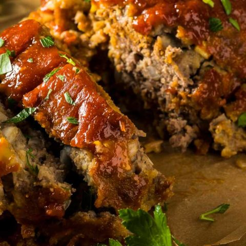 Turkey Meatloaf with a Chipotle Glaze
