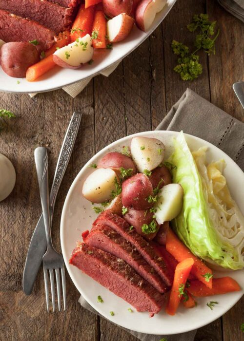 Perfect Corned Beef and Cabbage with Guinness