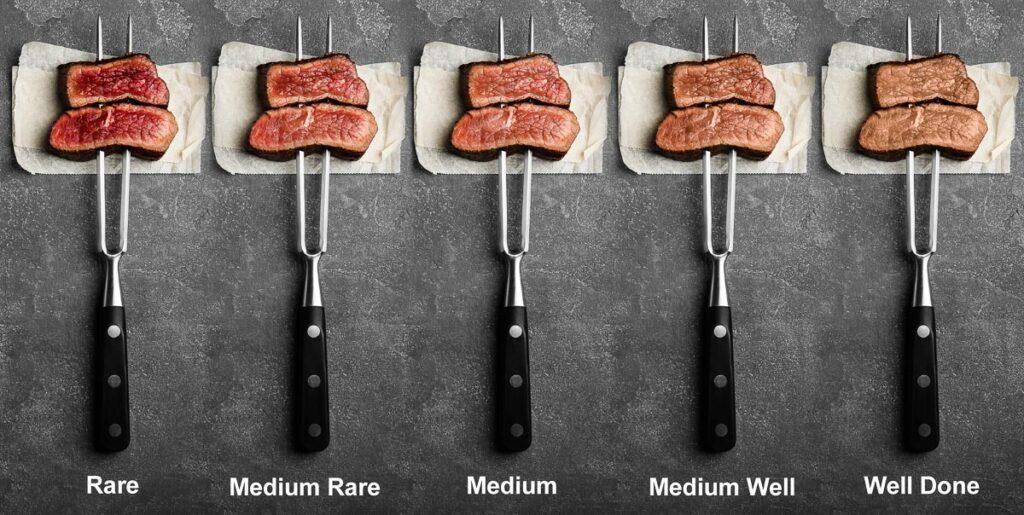 steak doneness chart